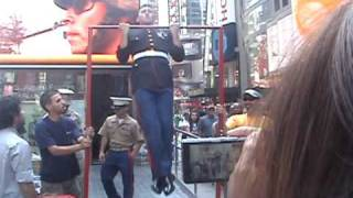 20 USMC Pull Ups Challenge In Times Square EPIC FAIL