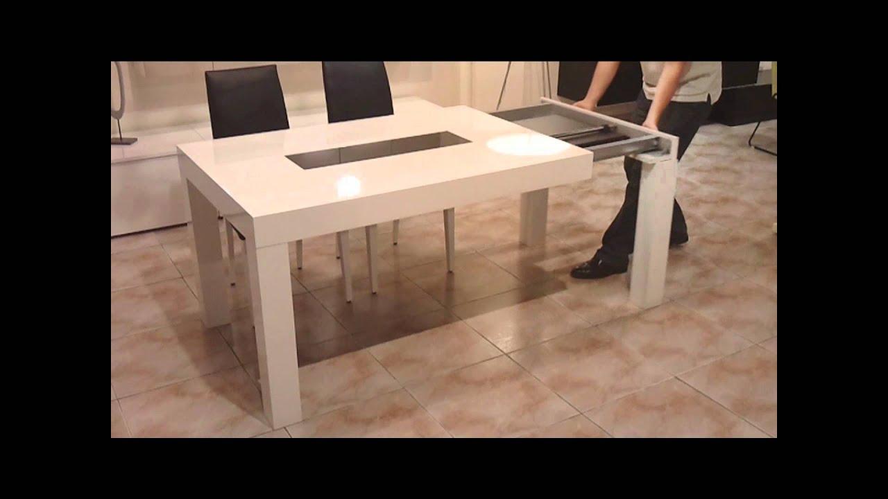 Mesa de comedor youtube for Mesa comedor 90x90 extensible