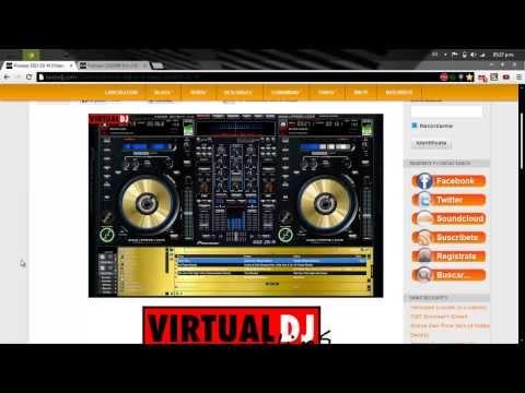 Skin De Lujo Para Virtual Dj 7 + Uno De Regalo 2013-2014