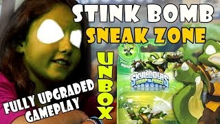 Stink Bomb Unboxing + Sneak Zone + Fully Upgraded Gameplay
