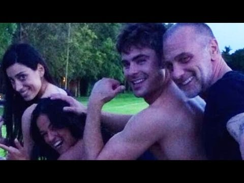 "Zac Efron Dances to ""Wiggle"" and Goes Shirtless on Vacation!"