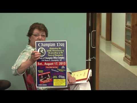 Champlain Town Board Meeting 7-9-13