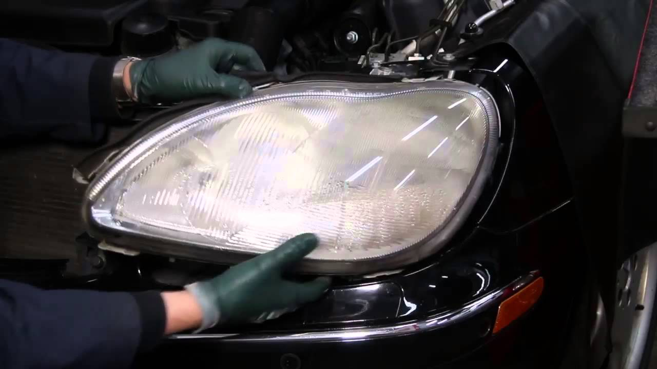 Mercedes w220 s500 s430 headlight removal and replacement for Mercedes benz s430 headlight replacement