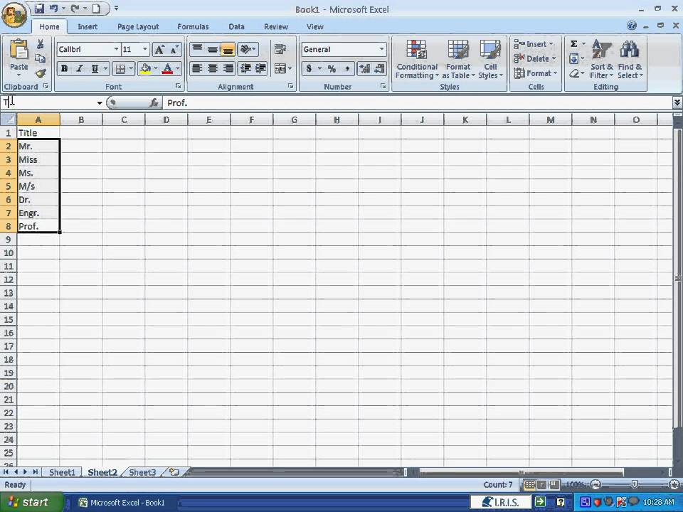 how to create a pick list in excel