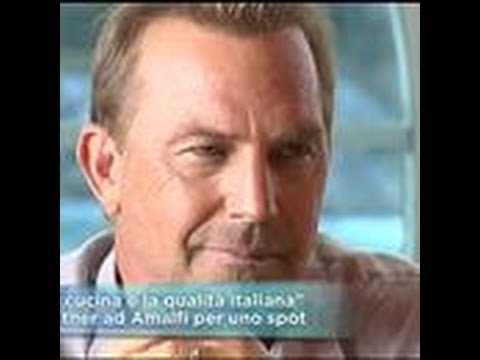 Actor Kevin Costner filming a commercial spot in Italy /  Amalfi Coast
