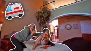 I FELL OFF THE BALCONY PRANK ON MOM!! **BACKFIRES**