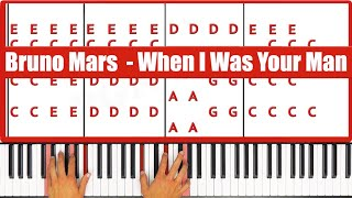 ♫ EASY How To Play When I Was Your Man Bruno Mars
