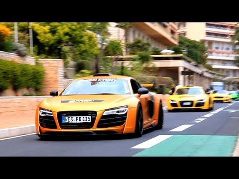 Prior Design Hits Monaco ! Accelerations, Drifts ! Audi R8, Gallardo, Porsche GT3