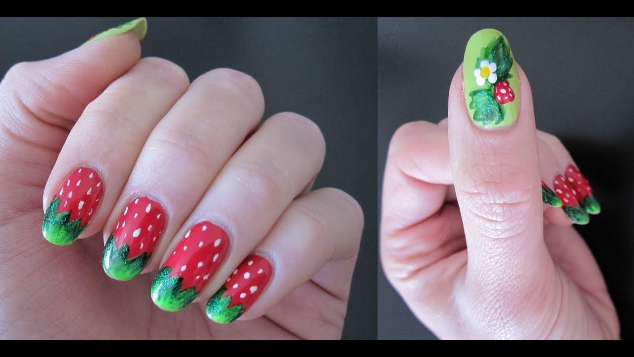 Strawberry Shortcake Nail Art