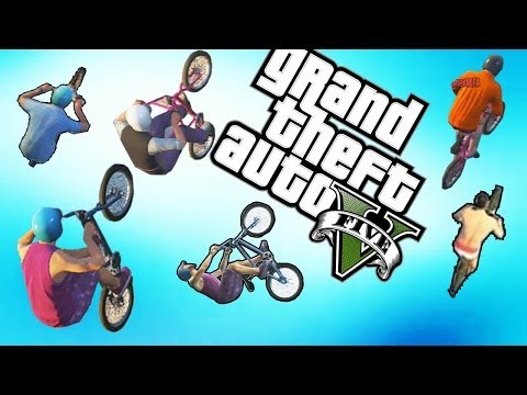 GTA 5 Bug Bicicletas Voando, Momentos Engraçados, Glitch Bike Bmx Flying (GTA V Online Gameplay)