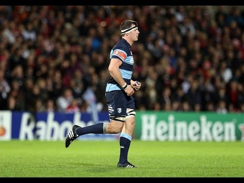 Robin Copeland Try on narrow side - Ulster v Cardiff Blues 25th Oct 2013