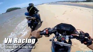 Bị bắn tốc độ Biker xuống Biển né chốt CSGT