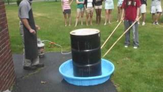 Crushing A 55-Gallon Drum For Science