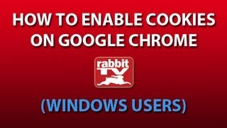 Enable Cookies/Clear Cache On Google Chrome (Windows Users
