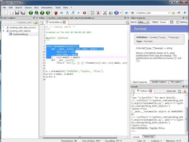 How to Create Python Classes Using the Spyder IDE from Firebox Training