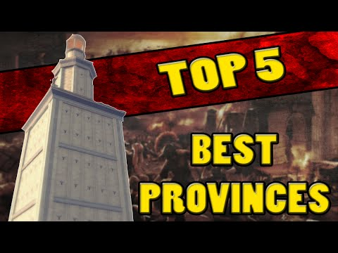 Top 5 BEST CAMPAIGN PROVINCES in Total War: Rome 2