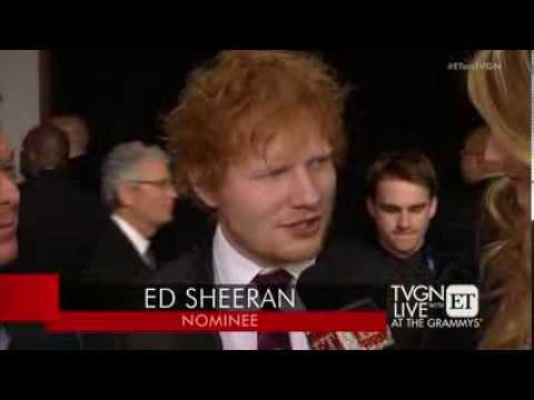 Ed Sheeran at the GRAMMYs
