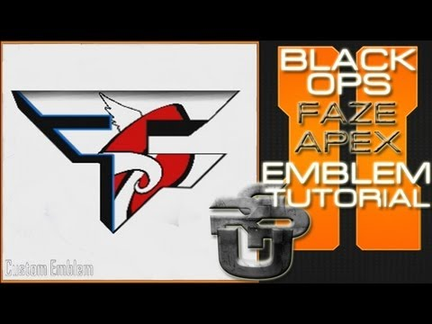 faze apex logo call of duty black ops 2 emblem tutorial