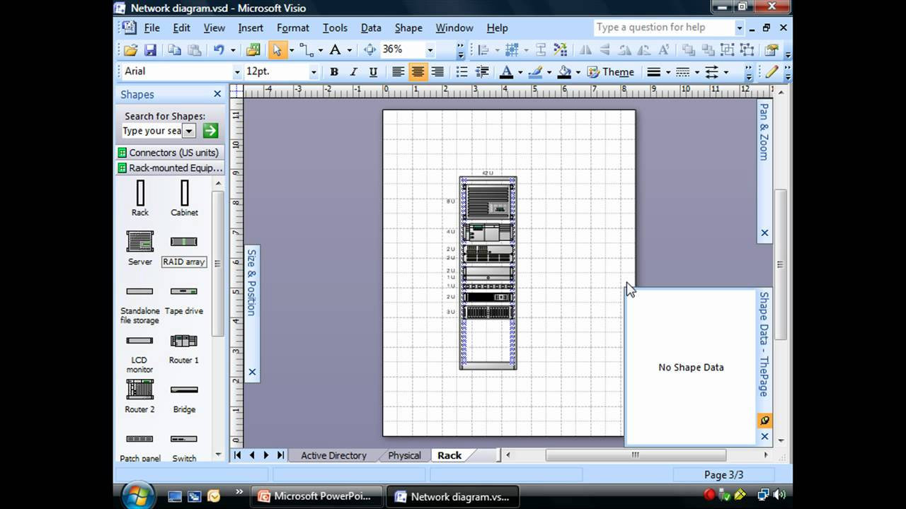 Creating Rack Diagrams Using Visio