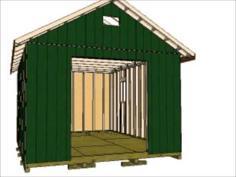 12x16 gable storage shed youtube for 10x14 garage door