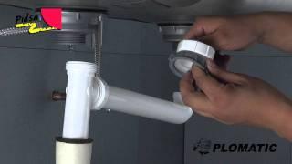 Instalar desagüe plástico doble con salida lateral