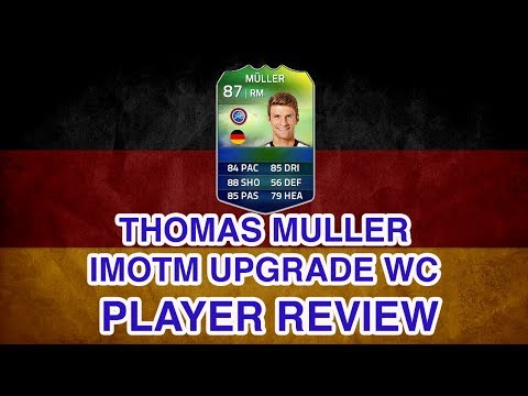 FUT 14 World Cup iMOTM Thomas Müller Upgrade Player Review FIFA 14 iMOTM Müller