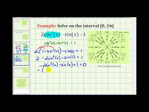 Example: Solving a Trigonometric Equation Using a Trig Substitution and Factoring