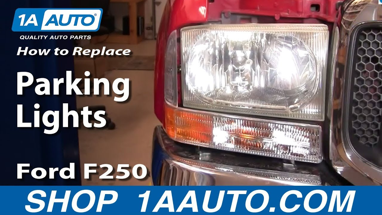 How To Install Replace Parking Light 99