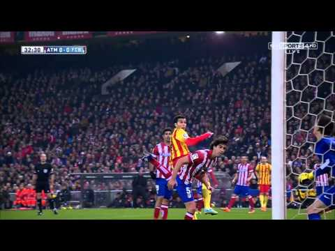 Atletico Madrid - Barcelona Highlights HD 11.01.2014
