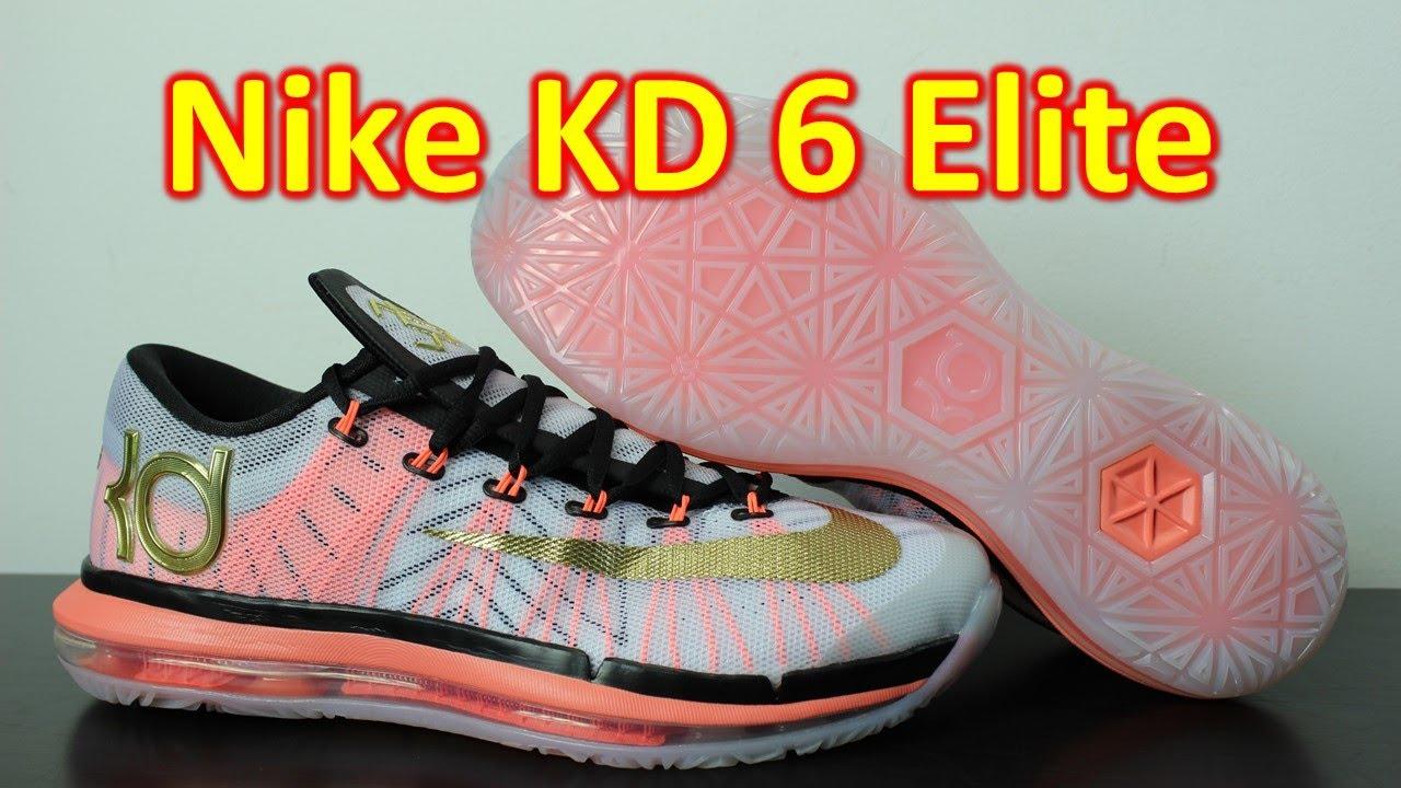 nike kd 6 elite whitemetallic gold review on feet
