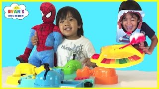 Family Fun Games for Kids Compilation Hungry Hungry Hippos Doggie Doo Pie Face Don't Wake Daddy