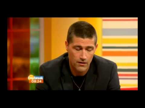 Matthew Fox ITV Daybreak interview 9/18/13