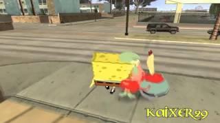 GTA San Andreas Bob Esponja En La Ciudad Loquendo