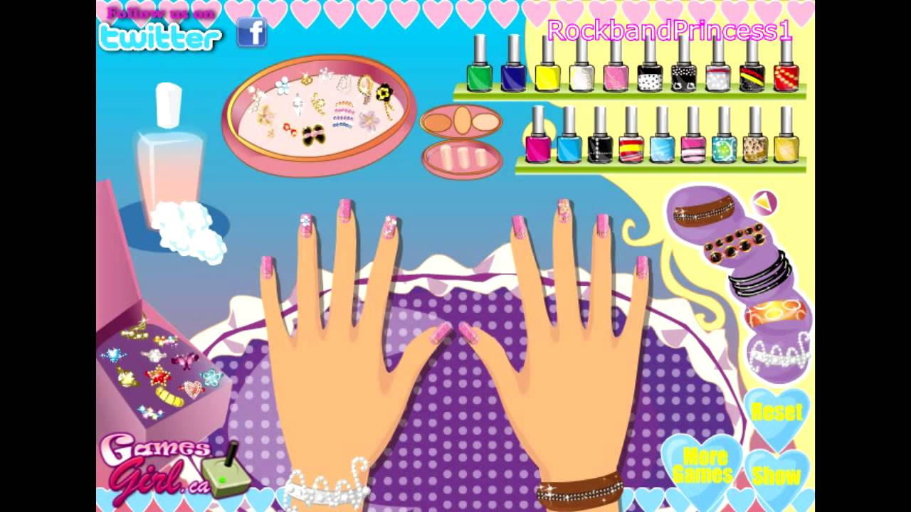 Barbie nail polish salon manicure makeover games online free for kids