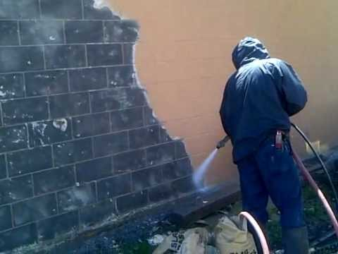 Sandblasting brick to remove paint youtube - Removing paint from bricks exterior set ...
