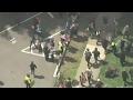 Pro- and anti-Trump demonstrators clash in California