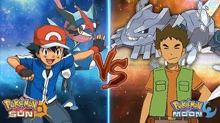 Pokemon Sun and Moon: Kalos Ash Vs Brock (Z-Moves Vs Mega-Evolution)