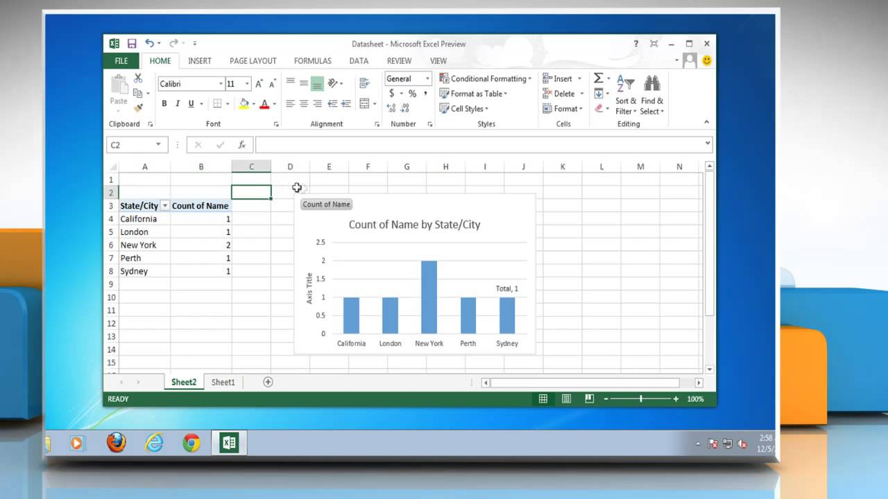 excel 2013 how to change for
