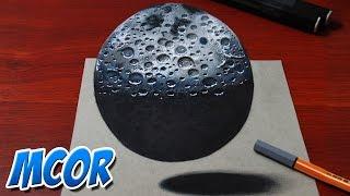 Dibujar la Luna en 3D