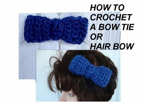 How to Crochet Bow - Easy - YouTube