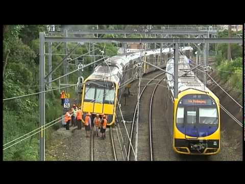 [ABC News NSW] Hurstville Train Derailment 9/2/2012