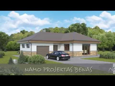 Vieno aukšto namo projektas Benas | NPS projektai - namų projektavimas, statyba