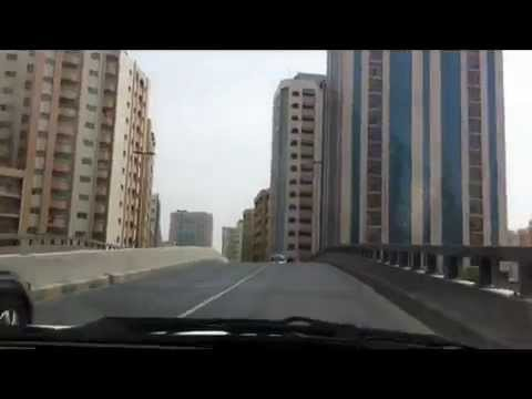 Driving at City side Sharjah