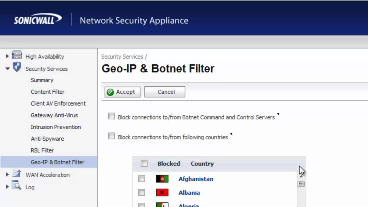 Botnet Protection With A Sonicwall Firewall Youtube