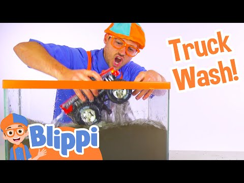 Blippi Truck Wash  Truck Videos for Children by Blippi