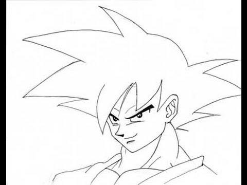 Goku ssj dios para colorear faciles - Imagui