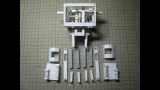Scary Walking Machine Made Out Of Paper