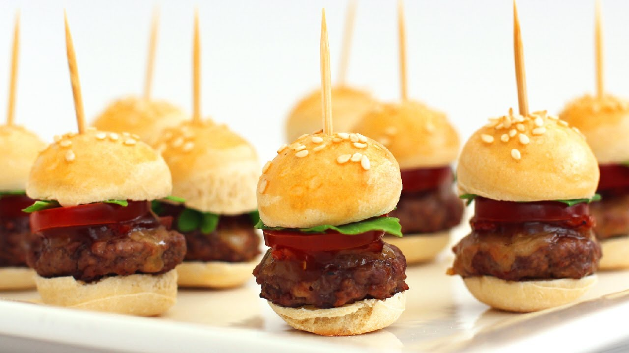 How To Make Mini Hamburgers Finger Food Video Recipe