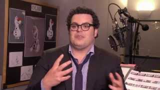 "Frozen: Josh Gad ""Olaf"" On Set Movie Interview"