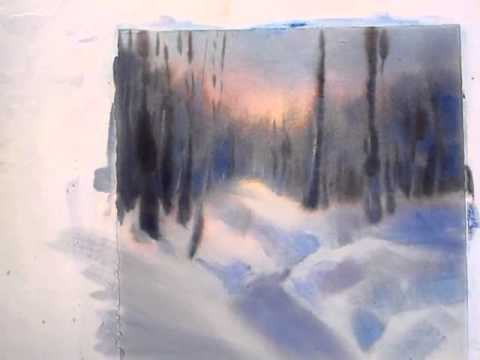 Sarah Yeoman watercolor -video I